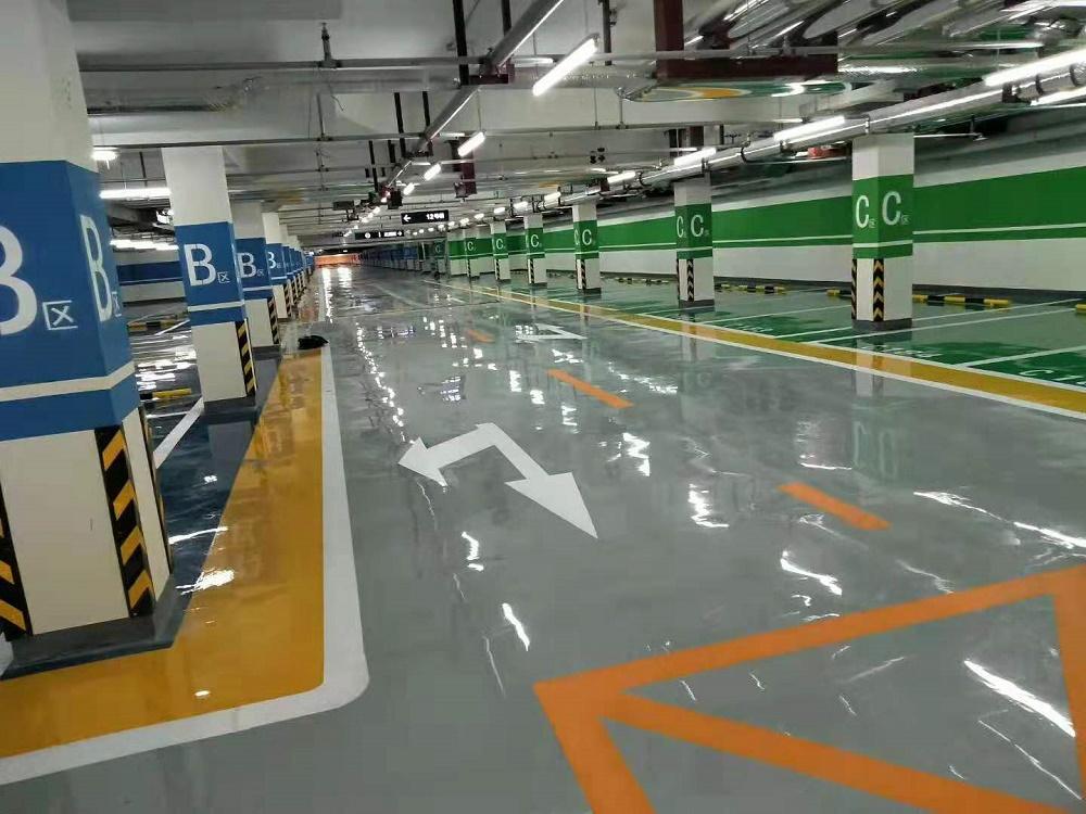 京凯腾达地下停车场划线施工队